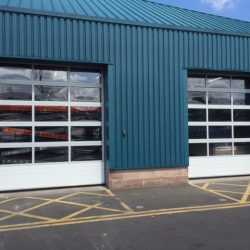 Industrial doors installation at Bristol factory