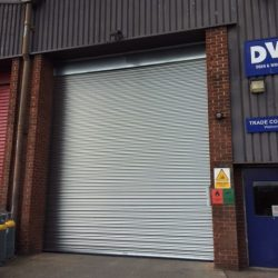 Industrial roller shutters installed in Bristol
