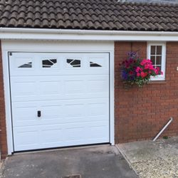 New sectional overhead garage door fitted in Yate, Bristol