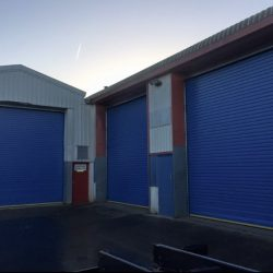 New insulated roller shutter door installed in Bristol