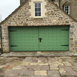 Sectional garage door supplied and installed in Gloucestershire