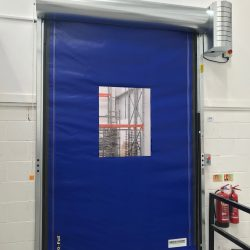 Auto speed door fitted at a food processing factory in Bristol