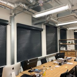 New security roller shutters fitted to a creative college in Bristol
