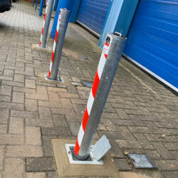 Security bollards fitted to Bristol warehouse